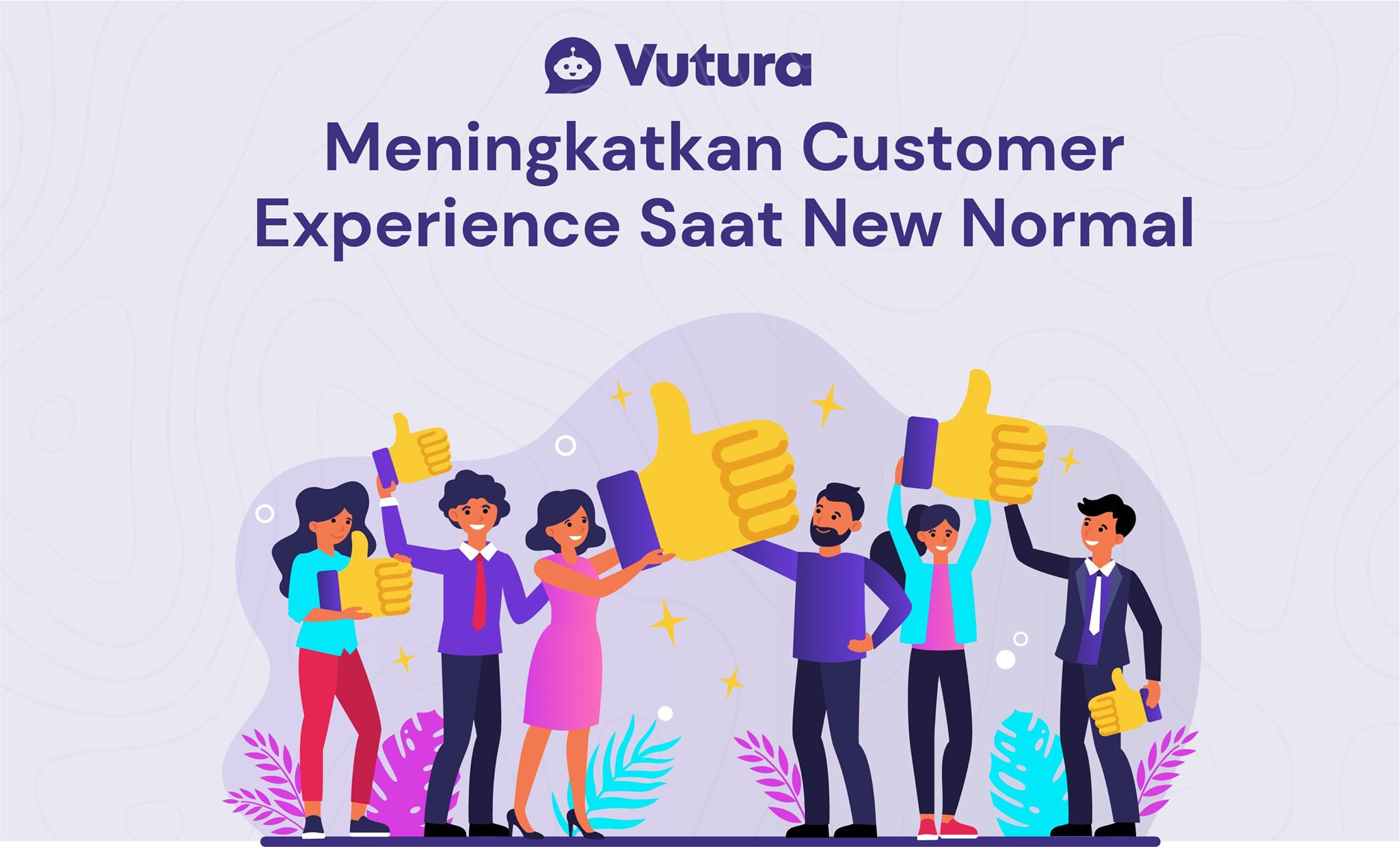 meningkatkan customer experience saat new normal illustration